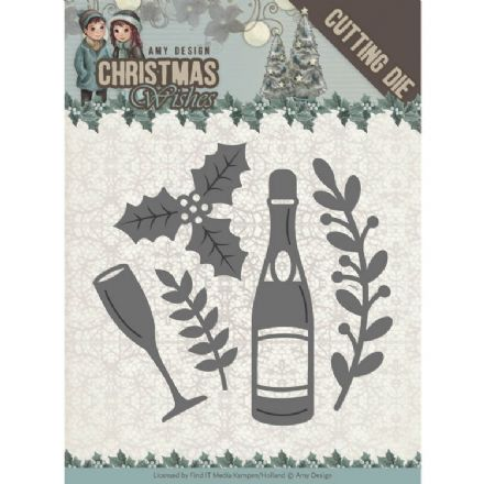 ADD10152 ~ Champagne Die~ Christmas Wishes  ~ Amy Design